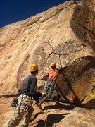 Rock Climbing Photo: Spicy start on gear to fun arete climbing.