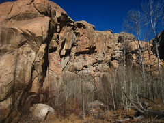 Rock Climbing Photo: A beautiful winter day in For Real Canyon.  Tina o...