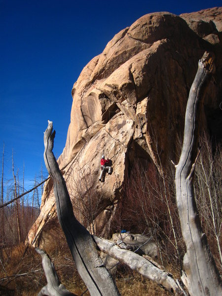 Rock Climbing Photo: Just past the first bulge.
