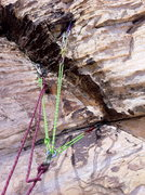 Rock Climbing Photo: somewhere at the top of angel food wall with a lot...
