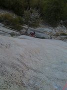 Rock Climbing Photo: looking down 1st pitch of Serpentine.  My rope sho...
