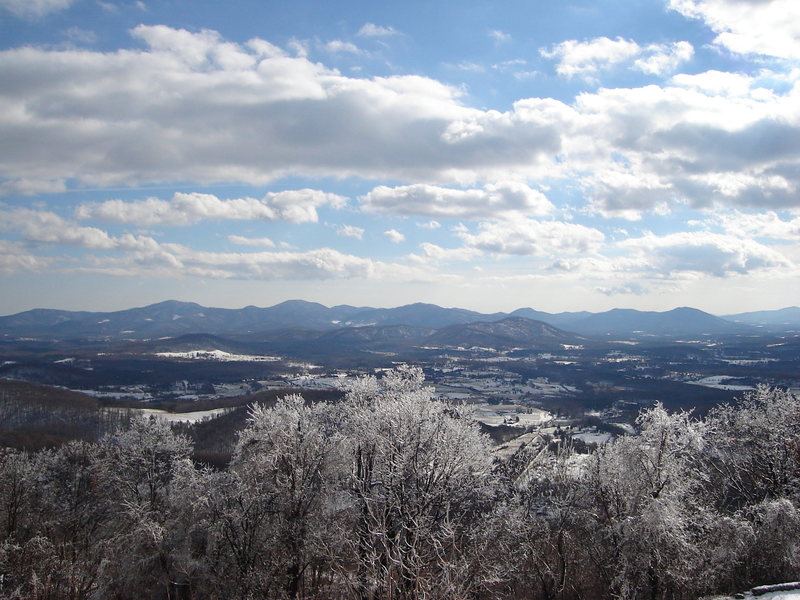 winter view from Rockfish Gap area