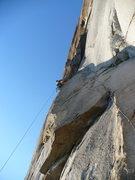 Rock Climbing Photo: Scott aiding the 3rd pitch, GM.