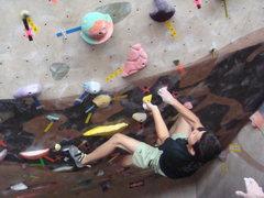 Rock Climbing Photo: Julian walking V11 - 2009 T&D
