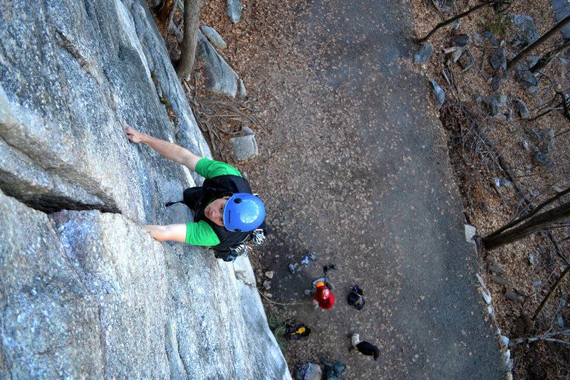 Ryan Brink nearing the top.