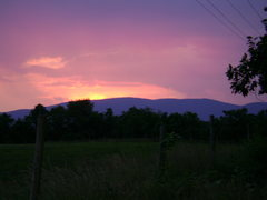 Rock Climbing Photo: sunset over Calf Mountain in South District