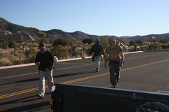 Rock Climbing Photo: Heading back to the cars for a breaK. Nathan, Albe...