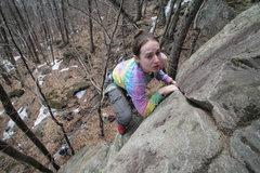Rock Climbing Photo: nicole at the top