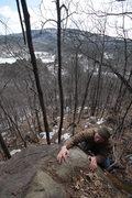 Rock Climbing Photo: eric tops out