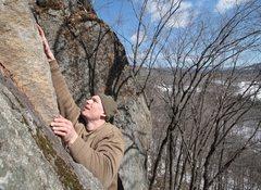 Rock Climbing Photo: eric at the crux