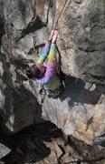 Rock Climbing Photo: nicole enjoying the jug