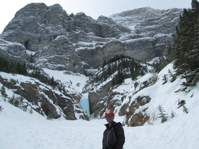 Will Buckner in front of the final pitch of The Professor Falls