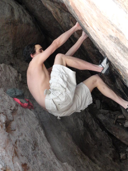Rock Climbing Photo: Bouldering caves on the Royal Arch trail.