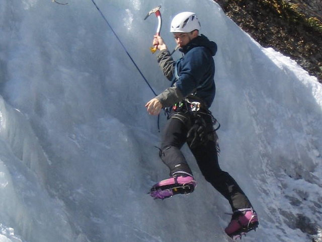 Rock Climbing Photo: rockn the pink inverno's at craine mtn
