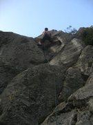 Rock Climbing Photo: Finishing pitch of Diretta Gobbi.  Fun!
