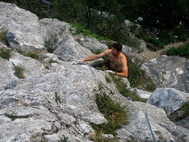 Rock Climbing Photo: Second pitch of Diretta Gobbi.