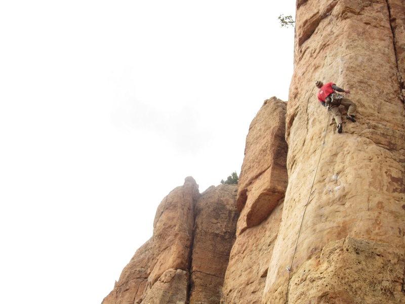 Rock Climbing Photo: Working the bulge.