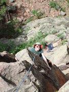 Rock Climbing Photo: Meg enjoying Breakfast, 5-14-07.