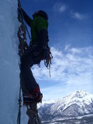 Rock Climbing Photo: Kurt heading up the last pitch