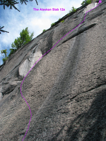 Rock Climbing Photo: The Alaskan Slab 12a - The photo doesn't do justic...
