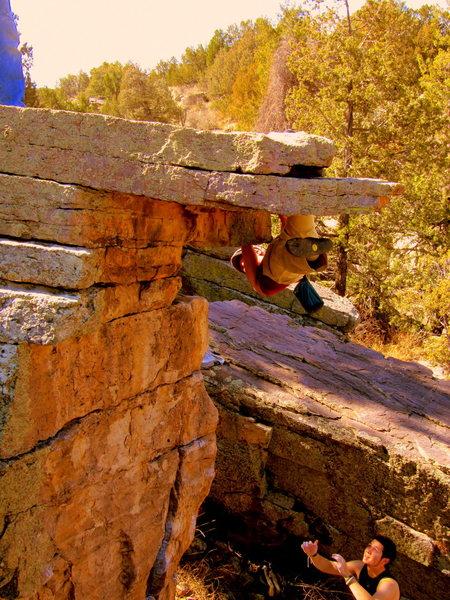 Rock Climbing Photo: High Ball