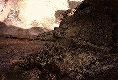 Rock Climbing Photo: Progress on the Diamond...first week of winter 199...