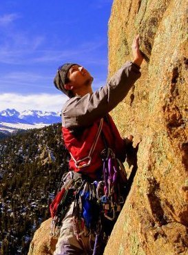 Rock Climbing Photo: Trad'n up high in the Wet Mountains
