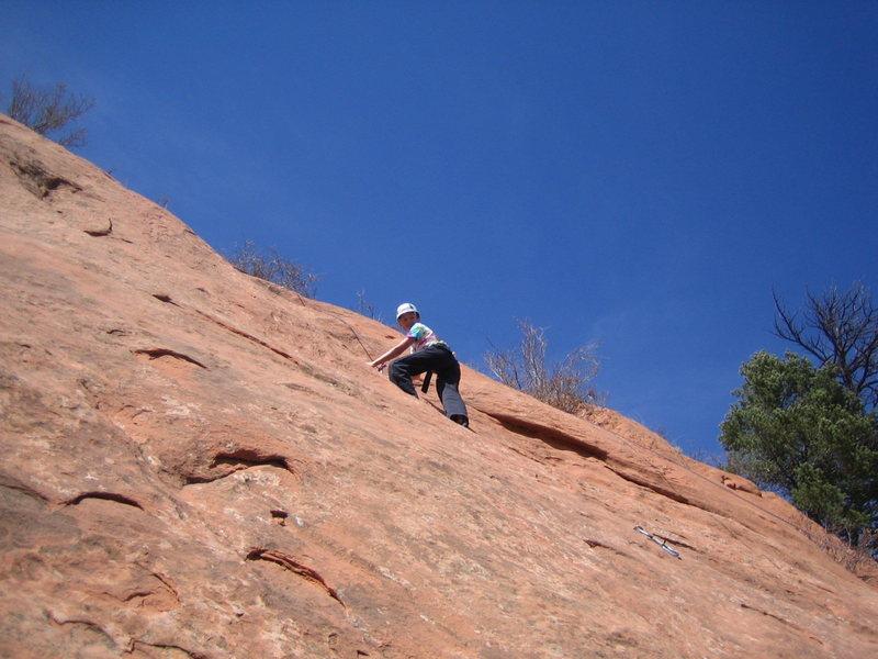 Jackie near top of El Sol.