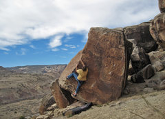 Rock Climbing Photo: Getting started on the arete.