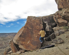 Rock Climbing Photo: About to do a reachy static move to a sloper finge...