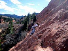 Rock Climbing Photo: Erin, 8, on the cruiser middle section.  Photo: Da...
