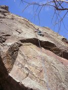 Rock Climbing Photo: RP time! above the crux.