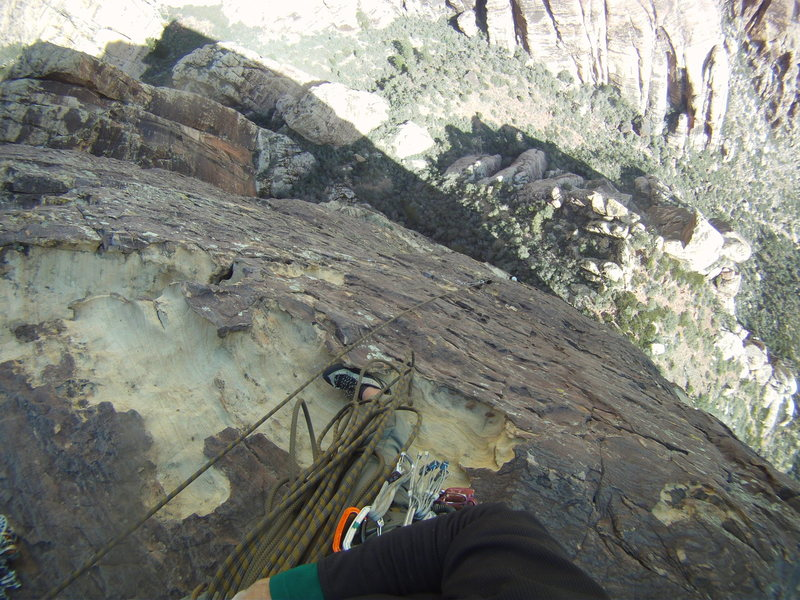 Rock Climbing Photo: Top of pitch 4