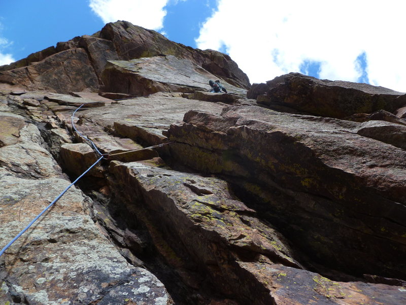 Rock Climbing Photo: Below the crux.