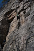 Rock Climbing Photo: Thank god i onsighted this. Falling is scary!