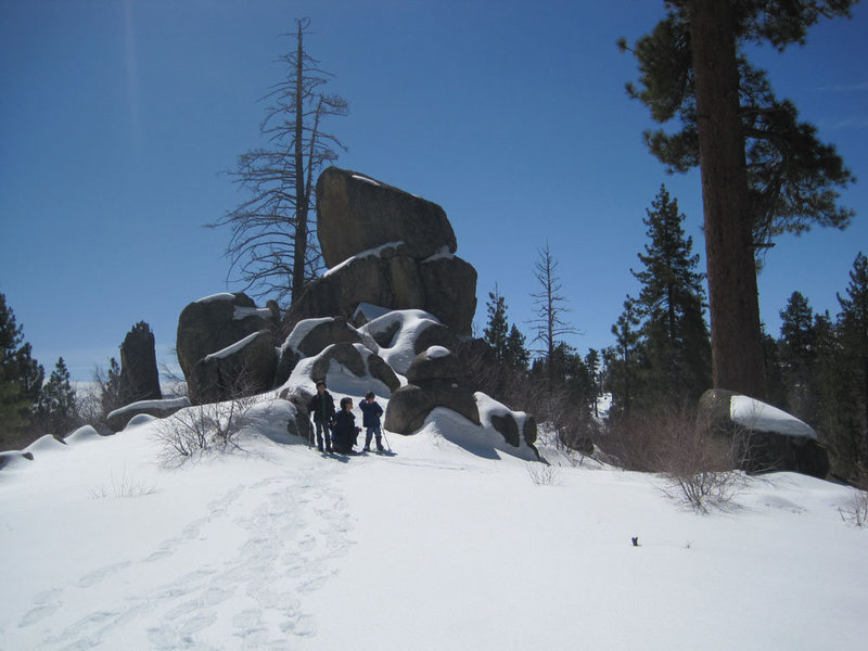 Rock Climbing Photo: Snowshoeing along 2N68 - just past the junction wi...