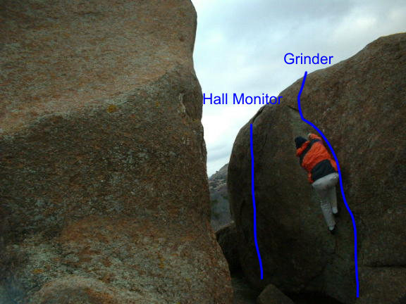 Rock Climbing Photo: Hall Monitor and Grinder