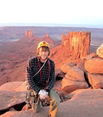 Rock Climbing Photo: summited at sunset