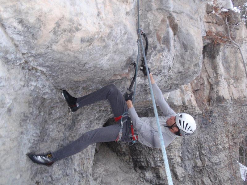Rock Climbing Photo: Elias trying not to get mauled.