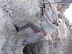 Rock Climbing Photo: Fine footwork will get you through the start.