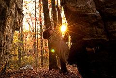Rock Climbing Photo: Aaron James Parlier in The Corridor.