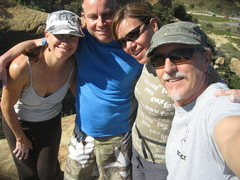 Rock Climbing Photo: Noelle, Kevin, Agina and me at the top of Mozarts ...