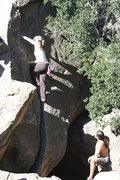 Rock Climbing Photo: Noelle on the Jam Crack