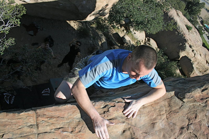 Rock Climbing Photo: Kevin on Mommy's Boys Right.