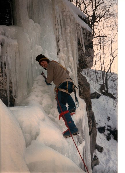 Rock Climbing Photo: Scanned acted action photo of myself on Alive and ...