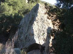 Rock Climbing Photo: N.face of the Iceberg boulder.