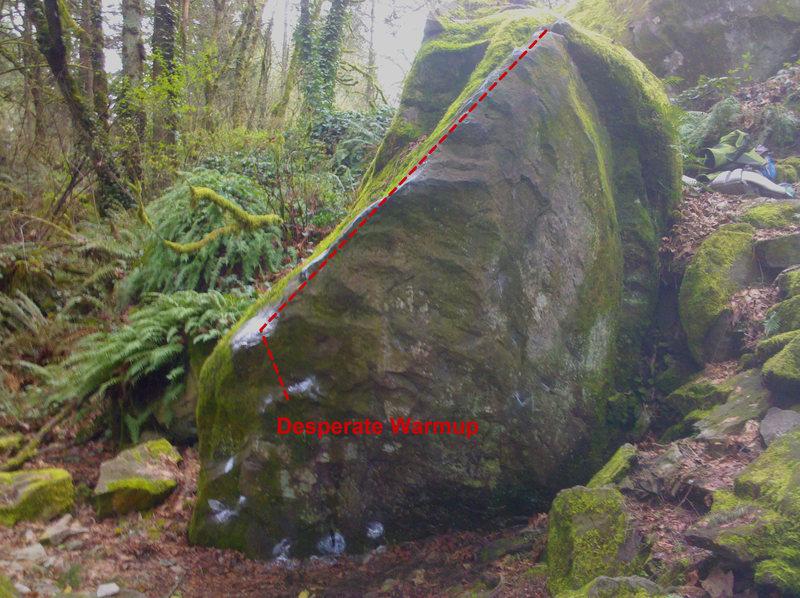 Rock Climbing Photo: Warmup