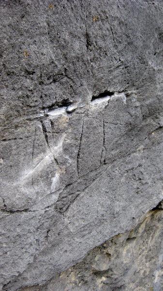 Rock Climbing Photo: crux holds on schism