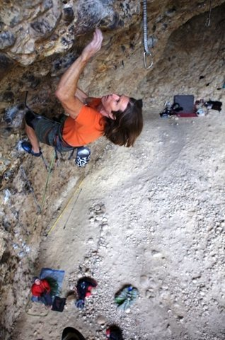 Rock Climbing Photo: crushing the belay