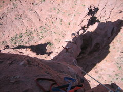 "Rock Climbing Photo: Last pitch of ""Finger of Fate""."